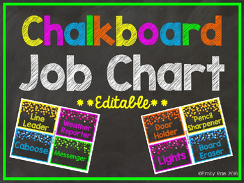 Chalkboard Job Chart EDITABLE