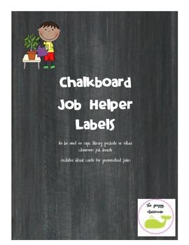 Chalkboard Job Helper Labels