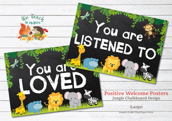 Library jungle theme ~ Librarian gift ~ Library decor ~ Library posters