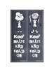 Chalkboard Keep Calm Read On Bookmarks