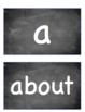 Chalkboard Kindergarten Sight Words