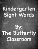 Chalkboard Kindergarten Sight Words