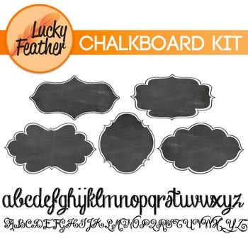 Chalkboard Kit - Includes labels/frames & lettering