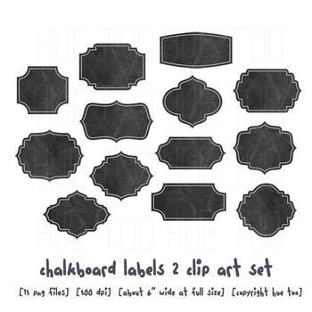 Chalkboard Label Clip Art, By TpT Sellers for TpT Sellers, png Files