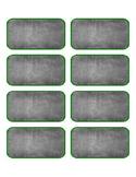 Chalkboard Label, green border- Editable