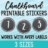 Chalkboard Label Stickers