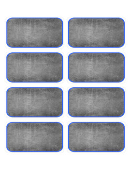 Chalkboard Label, blue border- Editable Editable