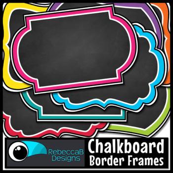 Chalkboard Labels and Frames Clip Art