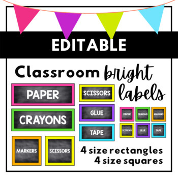 Chalkboard Labels {BRIGHTS}