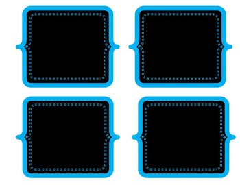 Chalkboard Labels: Blue Collection
