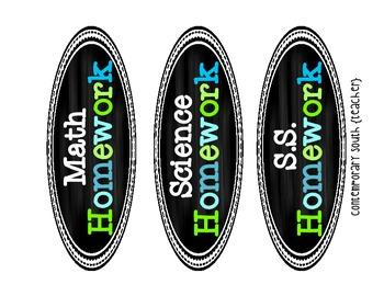 Chalkboard Labels {Blue & Green}