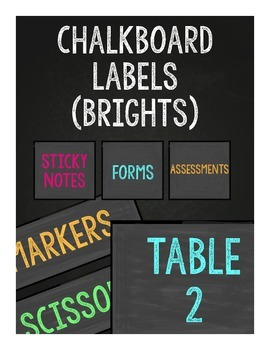 Chalkboard Labels (Brights)
