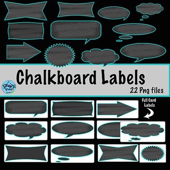 Chalkboard Labels!  Clip art for your classroom Labels
