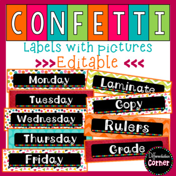 image regarding Colored Printable Labels identify Chalkboard Labels Editable