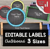 Chalkboard Labels - Name Tags - Bulletin Board - Classroom {EDITABLE}
