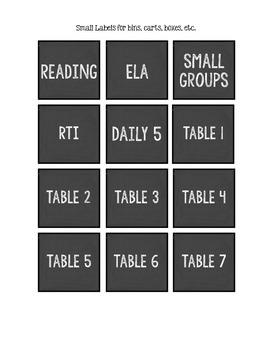Chalkboard Labels (Plain)