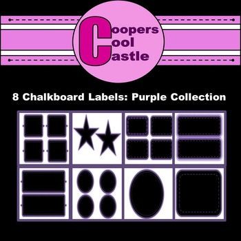 Chalkboard Labels: Purple Collection