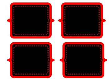 Chalkboard Labels: Red Collection