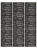 Chalkboard Labels (Spanish) for Homework Folders