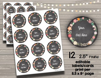 Chalkboard Labels - Tags - Personalized Notes - Flashcards - Classroom