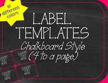 Chalkboard Labels Template
