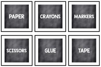 Chalkboard Labels {black & white}