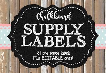 Chalkboard Labels (editable)