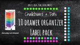Chalkboard Bright Labels for 10-Drawer BUNDLE (Pink, Aqua, Green, White Dots)