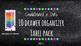 Chalkboard Bright Labels for 10-Drawer BUNDLE (Pink, Aqua,