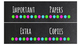 Chalkboard Labels for 10-Drawer Organizer (Green, Pink, Aqua Dots)