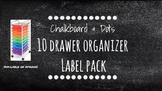 Chalkboard Bright Labels for 10-Drawer Organizer (White Dots)