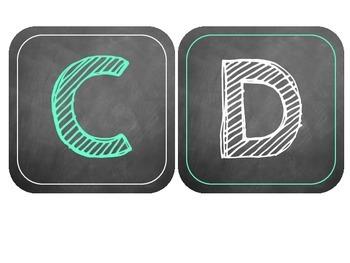 Chalkboard Labels for Book Bins