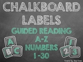 Chalkboard Labels for Book Bins