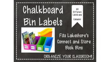 Chalkboard Labels for Lakeshore Book Bins-Editable
