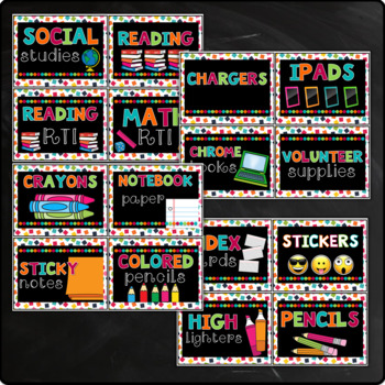 Chalkboard Labels with pictures Editable