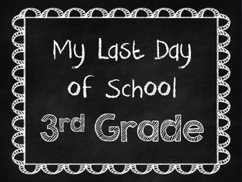 Chalkboard Last Day of School Signs