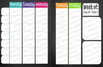 Chalkboard Lesson Planner