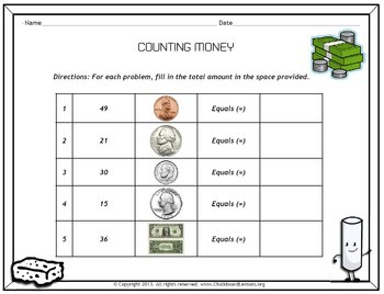 Chalkboard Lessons Presents: Counting Coins & Math Story Problems
