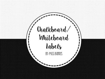 Chalkboard Letter & Number Labels