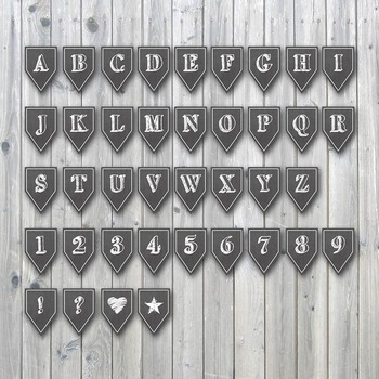 Chalkboard Alphabet and Number PNG Clip Art Set
