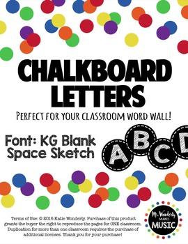 Chalkboard Capital Word Wall Letters