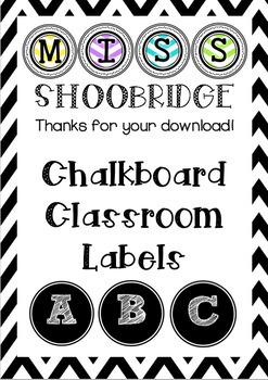 Chalkboard Letters Classroom Decorations