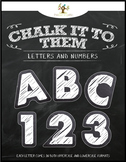 """Chalkboard Letters & Numbers """"Chalk It To Them Collection"""""""