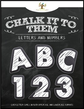 "Chalkboard Letters & Numbers ""Chalk It To Them Collection"""
