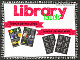 Chalkboard Library Bin & Book Labels Editable