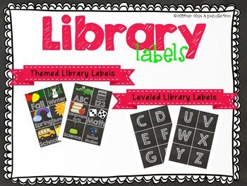 Chalkboard Library Bin & Book Labels Editable