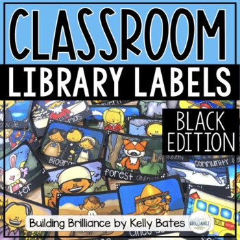 Chalkboard Library Book Box Labels {Editable Template Included}