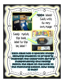 Chalkboard Library Book Labels – 420+Visual Book and Book Bin Labels
