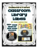 Chalkboard Library Book Labels – 420+Visual Book and Book