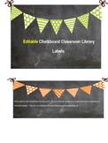 Chalkboard Library Labels
